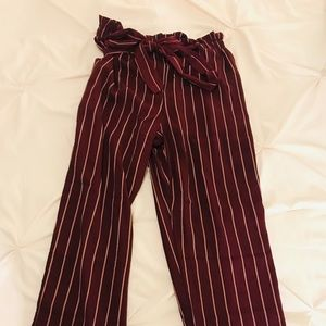 Pants - Striped flare pants